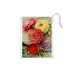 Flowers 1776541 1920 Drawstring Pouch (small) by vintage2030