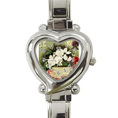 Flowers 1776617 1920 Heart Italian Charm Watch by vintage2030