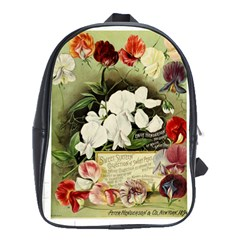 Flowers 1776617 1920 School Bag (xl) by vintage2030