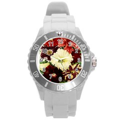 Flowers 1776585 1920 Round Plastic Sport Watch (l) by vintage2030