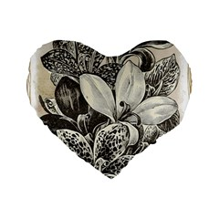 Flowers 1776382 1280 Standard 16  Premium Flano Heart Shape Cushions by vintage2030