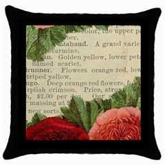 Flowers 1776422 1920 Throw Pillow Case (black) by vintage2030
