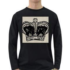 Crown 1515871 1280 Long Sleeve Dark T Shirt by vintage2030