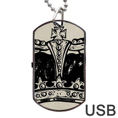 Crown 1515871 1280 Dog Tag Usb Flash (two Sides) by vintage2030