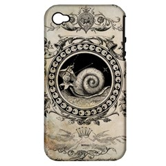 Snail 1618209 1280 Apple Iphone 4/4s Hardshell Case (pc+silicone) by vintage2030