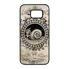 Snail 1618209 1280 Samsung Galaxy S7 Edge Black Seamless Case by vintage2030