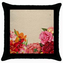 Flower 1646035 1920 Throw Pillow Case (black) by vintage2030