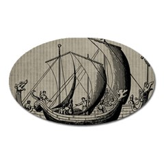 Ship 1515875 1280 Oval Magnet by vintage2030