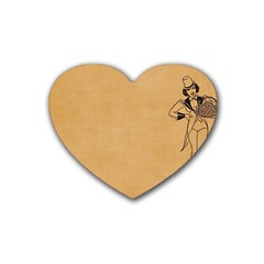 Flapper 1515869 1280 Rubber Coaster (heart)  by vintage2030