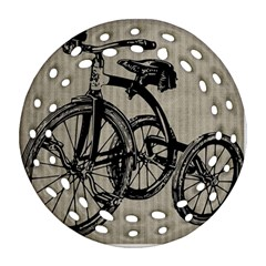 Tricycle 1515859 1280 Ornament (round Filigree) by vintage2030
