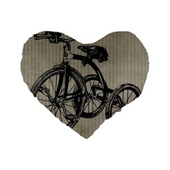 Tricycle 1515859 1280 Standard 16  Premium Flano Heart Shape Cushions by vintage2030