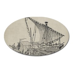 Ship 1515860 1280 Oval Magnet by vintage2030