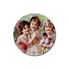 Vintage 1501556 1920 Rubber Round Coaster (4 Pack)  by vintage2030