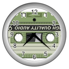 Cassette 40267 1280 Wall Clock (silver) by vintage2030