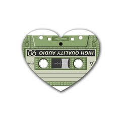 Cassette 40267 1280 Rubber Coaster (heart)  by vintage2030