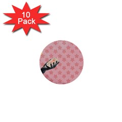 Vintage Lady 1  Mini Buttons (10 Pack)  by vintage2030