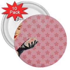Vintage Lady 3  Buttons (10 Pack)  by vintage2030