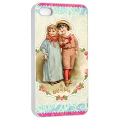 Kids Heart Apple Iphone 4/4s Seamless Case (white) by vintage2030
