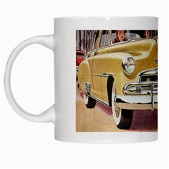 Retro Cars White Mugs