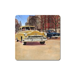 Retro Cars Square Magnet by vintage2030