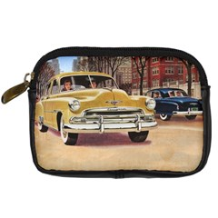 Retro Cars Digital Camera Leather Case by vintage2030