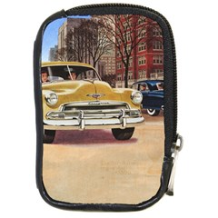 Retro Cars Compact Camera Leather Case by vintage2030