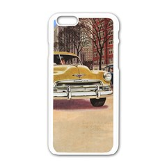 Retro Cars Apple Iphone 6/6s White Enamel Case