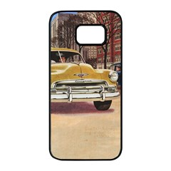 Retro Cars Samsung Galaxy S7 Edge Black Seamless Case by vintage2030