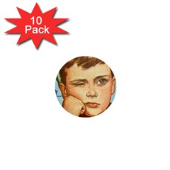 Retro Boy 1  Mini Buttons (10 Pack)  by vintage2030