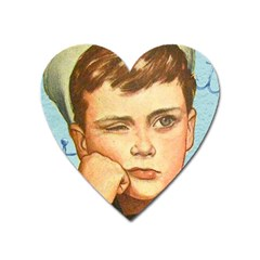 Retro Boy Heart Magnet by vintage2030