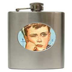 Retro Boy Hip Flask (6 Oz) by vintage2030