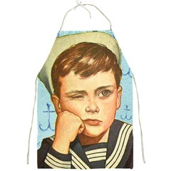 Retro Boy Full Print Aprons by vintage2030