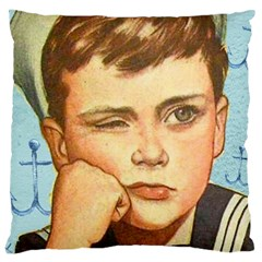 Retro Boy Large Cushion Case (one Side) by vintage2030