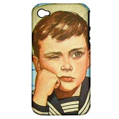 Retro Boy Apple Iphone 4/4s Hardshell Case (pc+silicone) by vintage2030