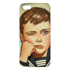 Retro Boy Apple Iphone 5 Premium Hardshell Case by vintage2030