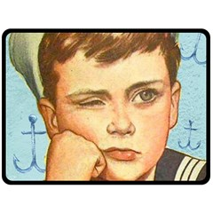 Retro Boy Double Sided Fleece Blanket (large)  by vintage2030