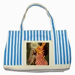Retro 1410650 1920 Striped Blue Tote Bag by vintage2030