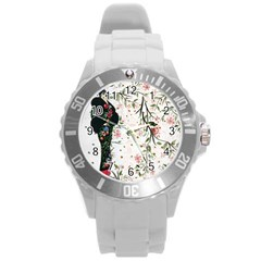 Background 1426655 1920 Round Plastic Sport Watch (l) by vintage2030