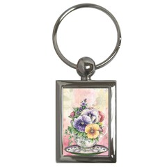 Lowers Pansy Key Chains (rectangle)  by vintage2030