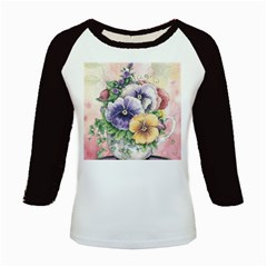 Lowers Pansy Kids Baseball Jerseys
