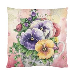 Lowers Pansy Standard Cushion Case (two Sides) by vintage2030