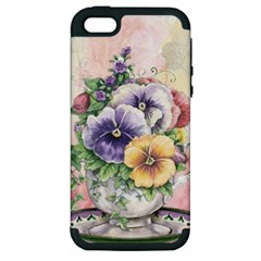 Lowers Pansy Apple Iphone 5 Hardshell Case (pc+silicone) by vintage2030