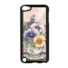 Lowers Pansy Apple Ipod Touch 5 Case (black) by vintage2030