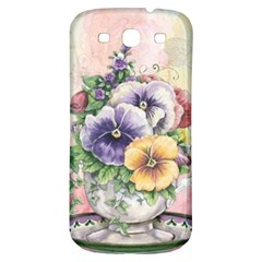 Lowers Pansy Samsung Galaxy S3 S Iii Classic Hardshell Back Case