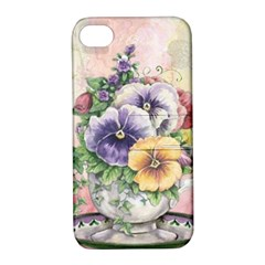 Lowers Pansy Apple Iphone 4/4s Hardshell Case With Stand by vintage2030