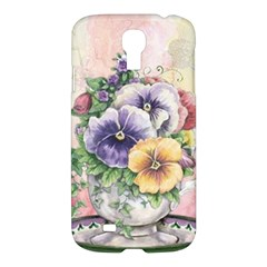 Lowers Pansy Samsung Galaxy S4 I9500/i9505 Hardshell Case by vintage2030