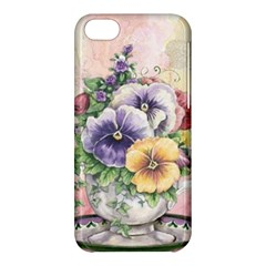 Lowers Pansy Apple Iphone 5c Hardshell Case by vintage2030