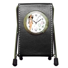Retro 1410690 1920 Pen Holder Desk Clock by vintage2030