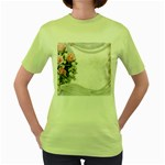 Background 1362160 1920 Women s Green T-Shirt Front