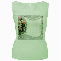 Background 1362160 1920 Women s Green Tank Top